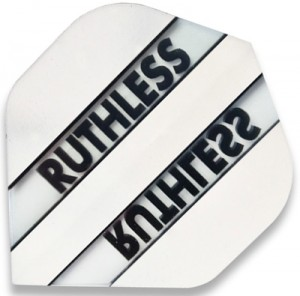 Flight Ruthless Clear and White - darts flights