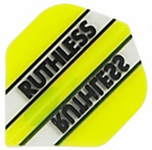Flight Ruthless Clear and Yellow - darts flights