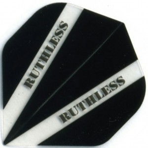 Flight Ruthless V100 Flight Black - darts flights