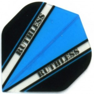 Flight Ruthless V100 Flight Blue - darts flights