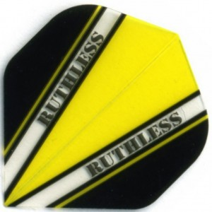 Flight Ruthless V100 Flight Yellow - darts flights