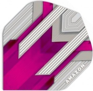 Flight - Amazon Rida - Zilver-Roze - darts flights