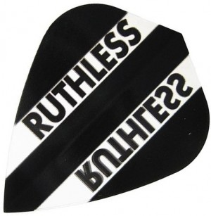 Flight Kite Ruthless Black/Clear - darts flights