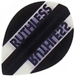 Flight Pear Ruthless Black Clear - darts flights