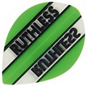 Flight Pear Ruthless Green Clear - darts flights