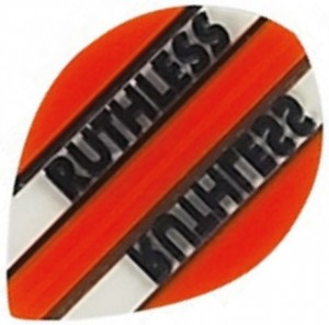Flight Pear Ruthless Orange Clear - darts flights