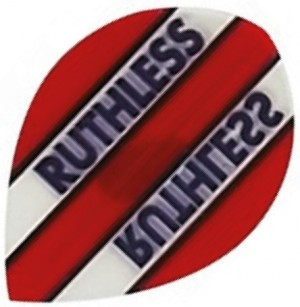 Flight Pear Ruthless Red Clear - darts flights