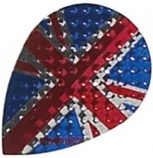 Flight Pear Union Jack Dimplex - darts flights